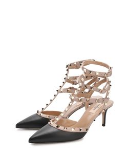 Valentino | Кожаные Туфли Rockstud С Ремешками