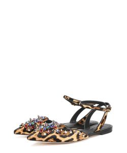 Dolce & Gabbana | Балетки С Меховой Отделкой И Декором