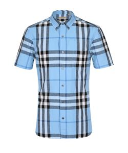 Burberry | Рубашка Из Смеси Льна И Хлопка С Воротником Button Down