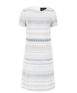 St. John | Платье Прямого Кроя С Бахромой