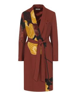 Dries Van Noten | Пальто С Цветочным Принтом И Поясом