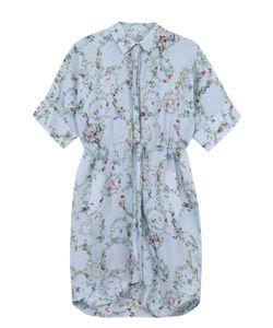 Preen By Thornton Bregazzi   Шелковое Платье-Рубашка С Цветочным Принтом