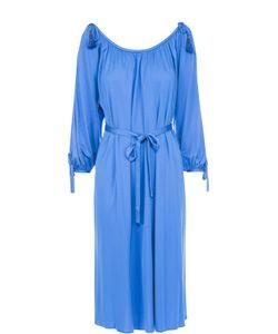 Roberto Cavalli | Платье-Миди С Поясом И Открытыми Плечами