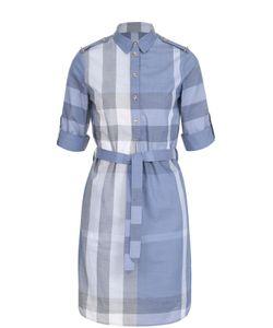 Burberry | Платье-Рубашка В Клетку С Поясом