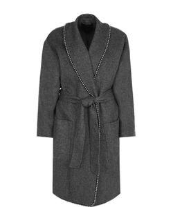 Alexander Wang   Пальто С Металлизированной Отделкой И Поясом