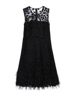 Elie Tahari | Кружевное Мини-Платье С Декоративной Отделкой И Перьями