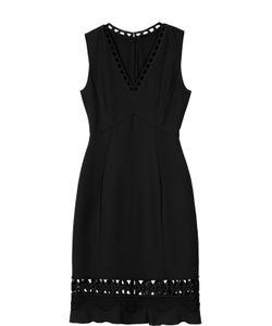 Elie Tahari | Платье-Миди С V-Образным Вырезом И Перфорацией