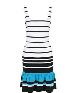 Michael Michael Kors | Облегающее Платье В Полоску С Баской