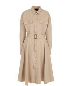 Polo Ralph Lauren | Платье-Рубашка С Накладными Карманами И Поясом