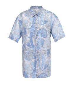 Brioni | Рубашка Из Смеси Льна И Хлопка С Короткими Рукавами