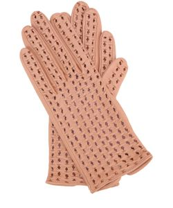 Agnelle | Кожаные Перчатки С Перфорацией