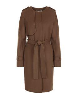 Diane Von Furstenberg | Однотонное Шерстяное Пальто С Поясом