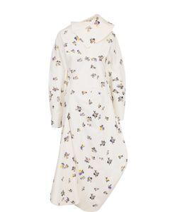 Acne | Приталенное Платье-Миди С Открытой Спиной И Принтом Studios