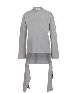 Balenciaga | Пуловер Асимметричного Кроя С Длинными Рукавами И Круглым Вырезом