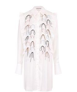 Marco De Vincenzo | Удлиненная Хлопковая Блуза С Декоративной Отделкой