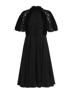Valentino | Платье-Миди С Кружевной Отделкой И Бантом