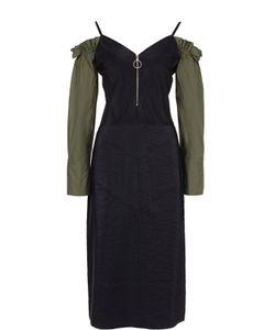 Nina Ricci | Платье С Вырезом На Молнии С Открытыми Плечами