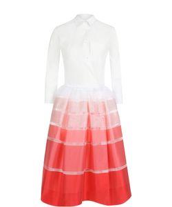 SARA ROKA | Платье-Рубашка С Юбкой В Контрастную Полоску