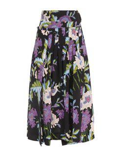 Diane Von Furstenberg | Шелковая Юбка Со Складками И Цветочным Принтом