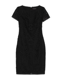 St. John | Кружевное Платье-Миди С Круглым Вырезом