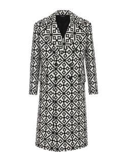 Versace | Двубортное Пальто Из Смеси Шерсти И Шелка