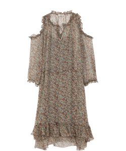 Zadig & Voltaire   Шелковое Платье С Открытыми Плечами И Оборками Zadigvoltaire