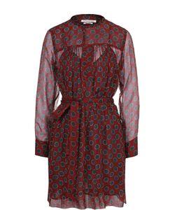 ISABEL MARANT ÉTOILE | Шелковое Мини-Платье С Поясом И Круглым Вырезом Isabel Marant Etoile