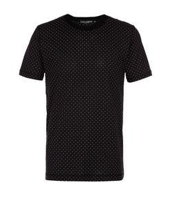 Dolce & Gabbana | Хлопковая Футболка С Узором Polka Dot