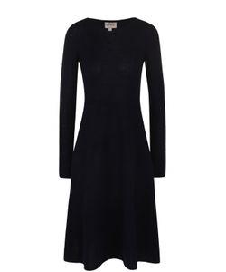 Armani Collezioni | Приталенное Платье-Миди С Длинным Рукавом