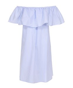 Pietro Brunelli | Хлопковое Платье С Открытыми Плечами И Оборкой