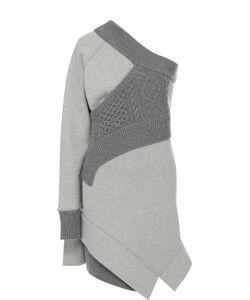 Burberry | Вязаное Мини-Платье С Открытым Плечом
