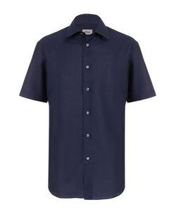 Brioni   Рубашка Из Смеси Льна И Хлопка С Короткими Рукавами