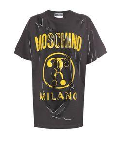 Moschino | Хлопковая Футболка С Принтом В Технике Тромплей