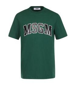 MSGM | Хлопковая Футболка С Контрастной Надписью