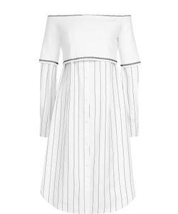 DKNY | Платье В Полоску С Открытыми Плечами