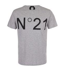 No. 21 | Хлопковая Футболка С Контрастным Принтом