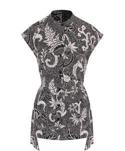 Diane Von Furstenberg   Шелковый Топ Асимметричного Кроя С Принтом