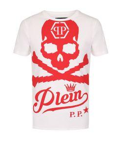 Philipp Plein | Хлопковая Футболка С Контрастным Принтом