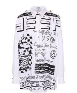 Kenzo | Блуза Свободного Кроя С Контрастным Принтом И Погонами