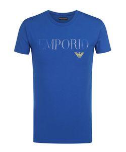 Emporio Armani | Хлопковая Футболка С Круглым Вырезом