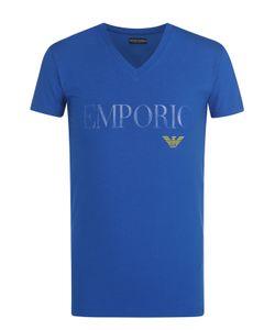 Emporio Armani | Хлопковая Футболка С V-Образным Вырезом