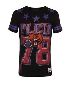 Philipp Plein | Хлопковая Футболка С Контрастной Отделкой