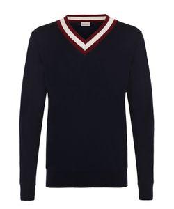 Moncler | Хлопковый Пуловер С Контрастной Отделкой