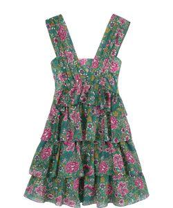 No. 21 | Многоярусное Мини-Платье С Цветочным Принтом