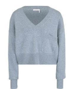 Chloe | Укороченный Пуловер Свободного Кроя С V-Образным Вырезом