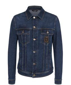 Dolce & Gabbana | Джинсовая Куртка С Контрастной Прострочкой И Вышивкой Канителью