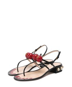 Gucci | Кожаные Сандалии Hatsumomo С Декором