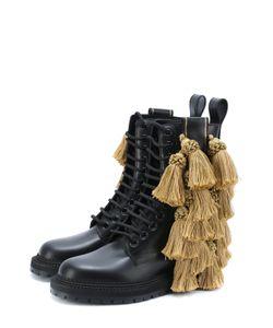 Burberry | Кожаные Ботинки С Кисточками