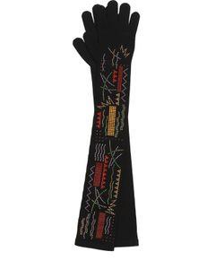 Giorgio Armani | Удлиненные Перчатки С Декором Из Страз