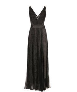 Elie Saab | Платье-Макси С Высокими Разрезами И Металлизированной Отделкой